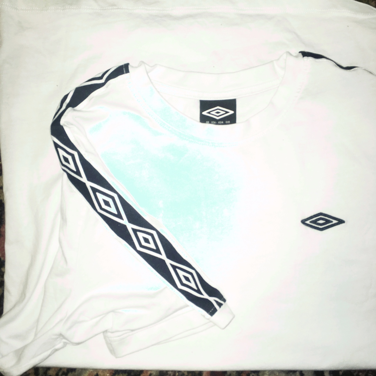 f16bd97b0 Umbro shirt Size  Large Short sleeve ringer style Similar to - Depop