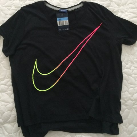 86182056f338 Brand new with tags Nike swoosh tick slouchy box top t-shirt - Depop