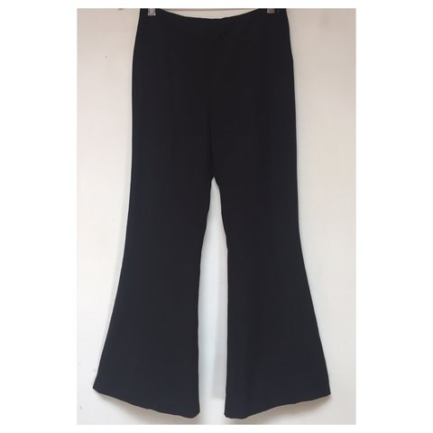 b92a0952 ZARA black high waist flare pants, cropped at the ankle. 2 a - Depop
