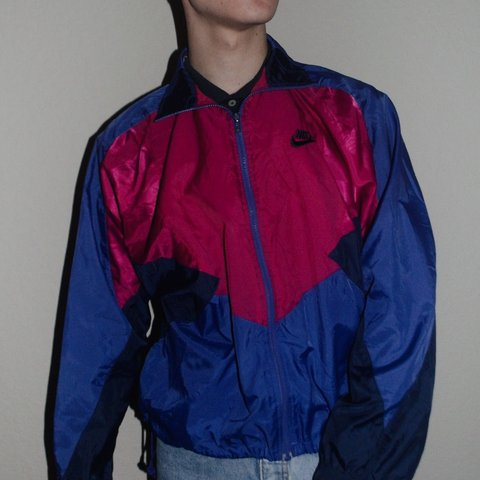 27a2d0733a25 Vintage colorful Nike windbreaker! This is such a unique and - Depop