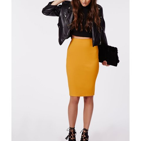 382d67a9c532 @beccarad. 2 years ago. Bedwas, United Kingdom. Mustard yellow midi skirt  ...