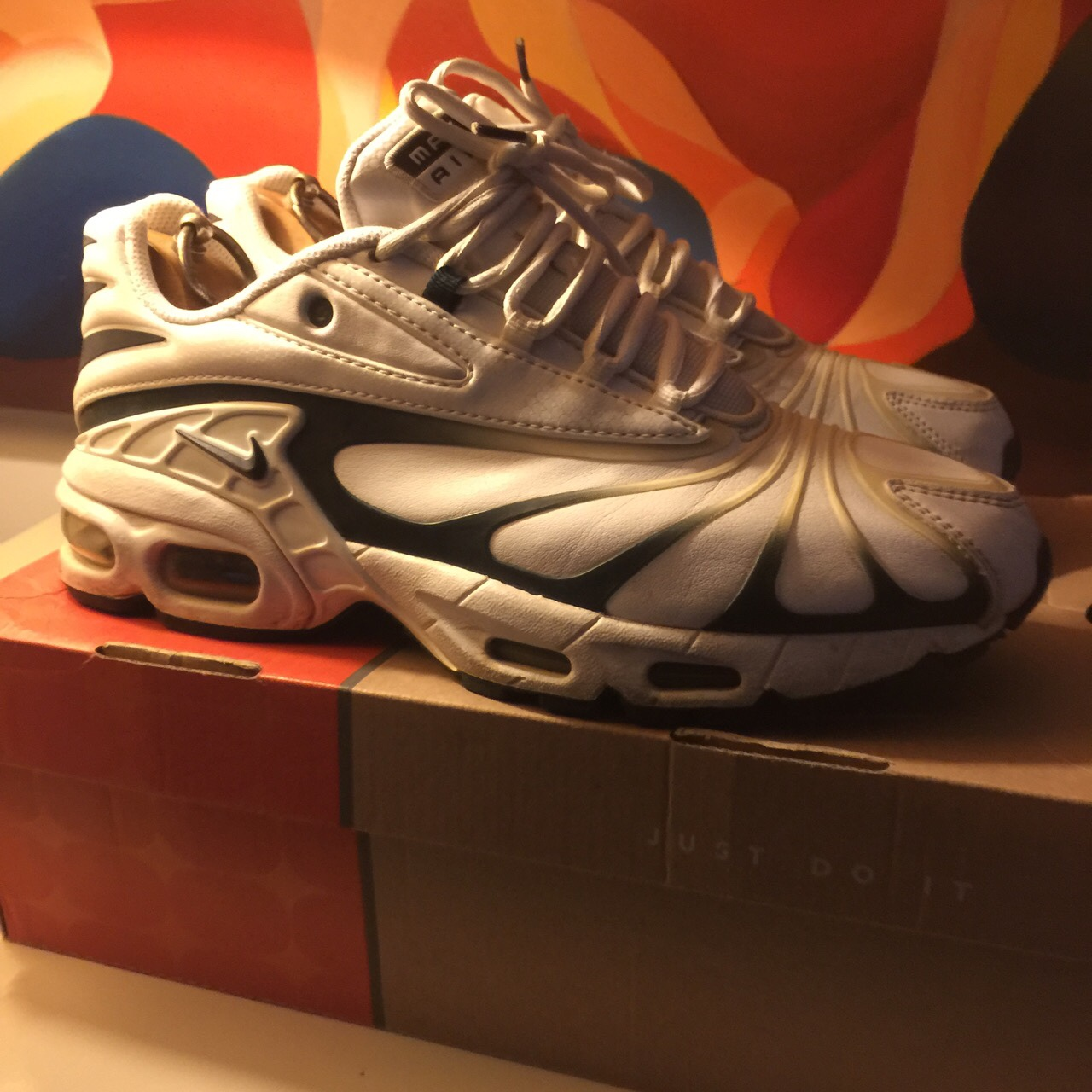 reputable site cf219 6ad53 Wts Nike air max Tailwind 5 plus navy/white. Very... - Depop