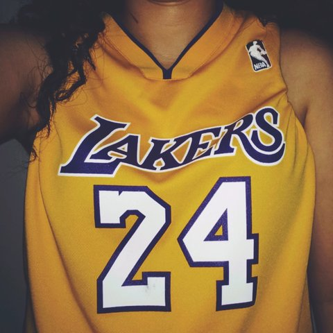92aa6815dab0 Large Lakers Jersey with the number 24 for Kobe Bryant. Been - Depop