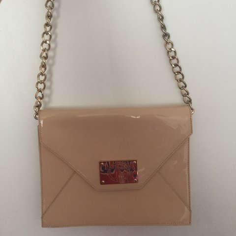 3f7c3a7f3ab6 Jack French patent chain shoulder bag. Bought from Debenhams - Depop