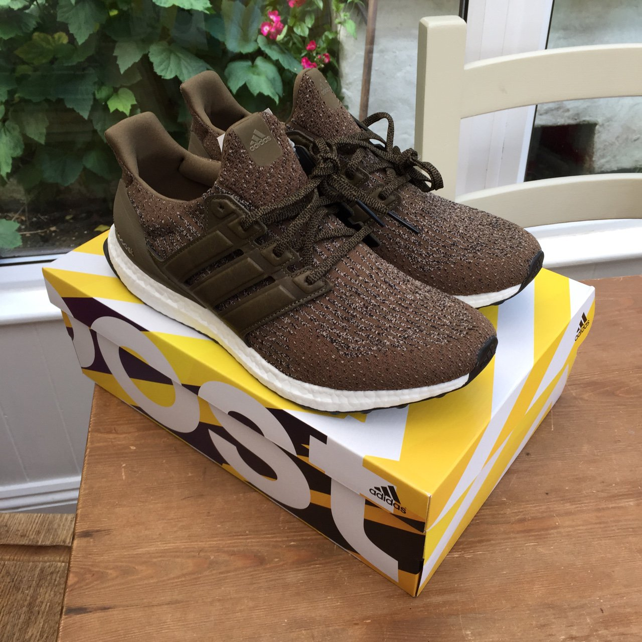 e0fe8c9c8bcaf Adidas ultra boost 3.0 trace olive trace khaki. to Yeezy nmd - Depop