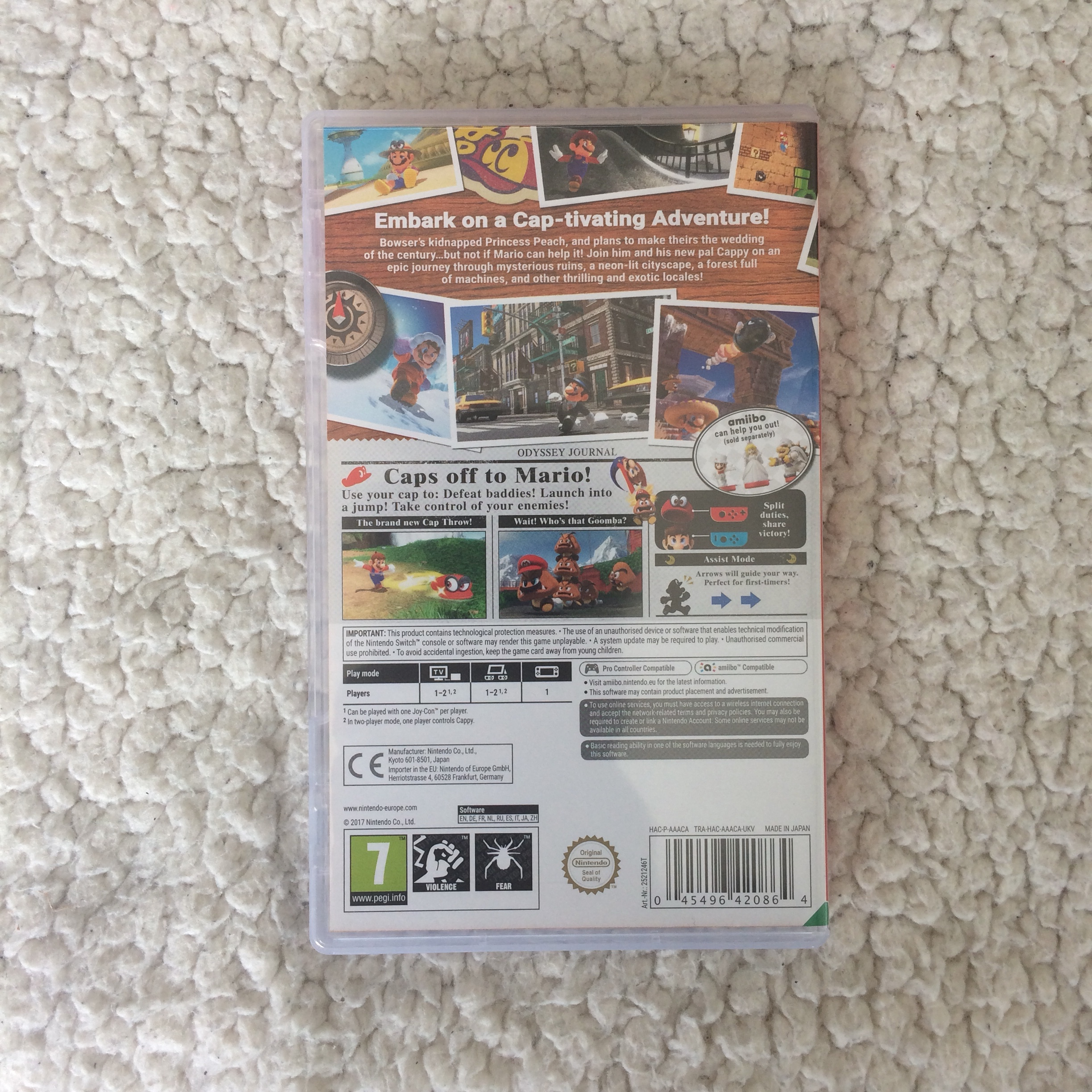Super Mario Odyssey for Nintendo Switch 💫 Used but    - Depop