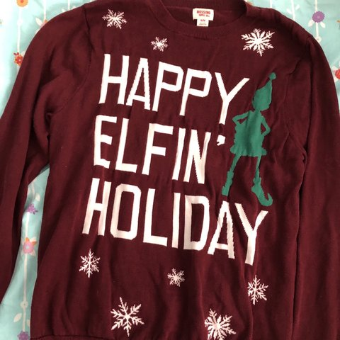 Happy Elfin Holiday The Best Christmas Sweater Ever Size Depop