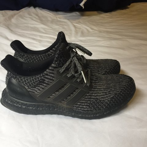 c5b75c0987a3e Adidas ultra boost 3.0 Triple black grey colourway Very in - Depop