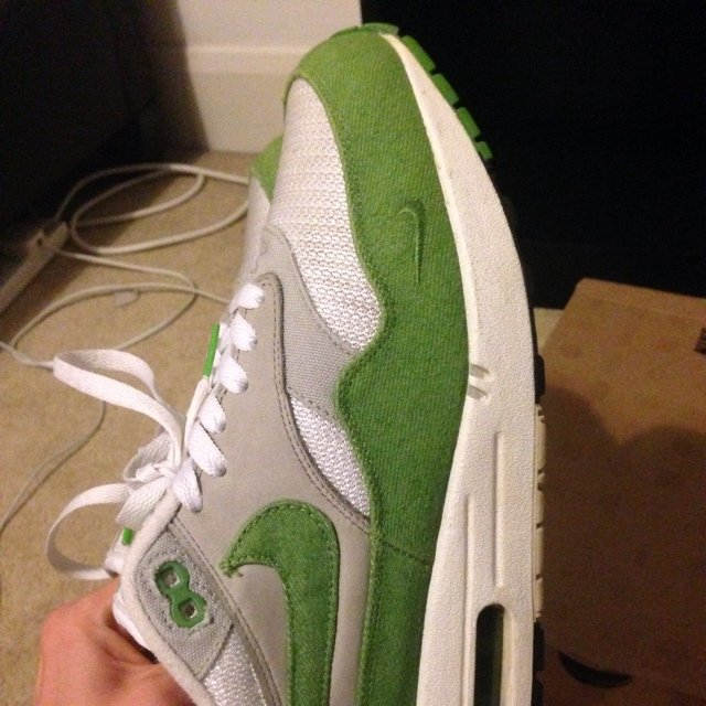 Air max 1 patta chlorophyll 8.5 10 uk 8 trades accepted - Depop 48591de1b
