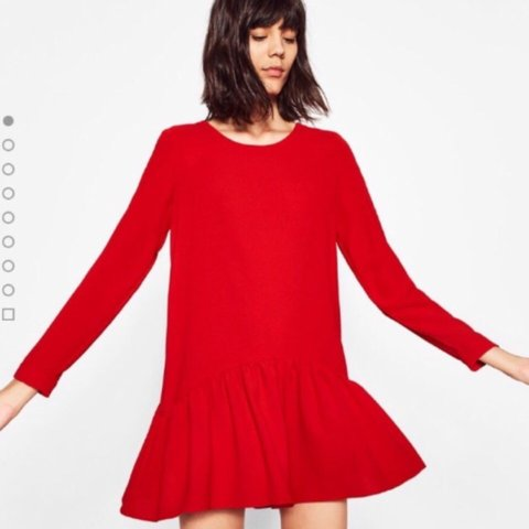 23d28e9ca40 Gorgeous Red Frill Hem Zara Playsuit