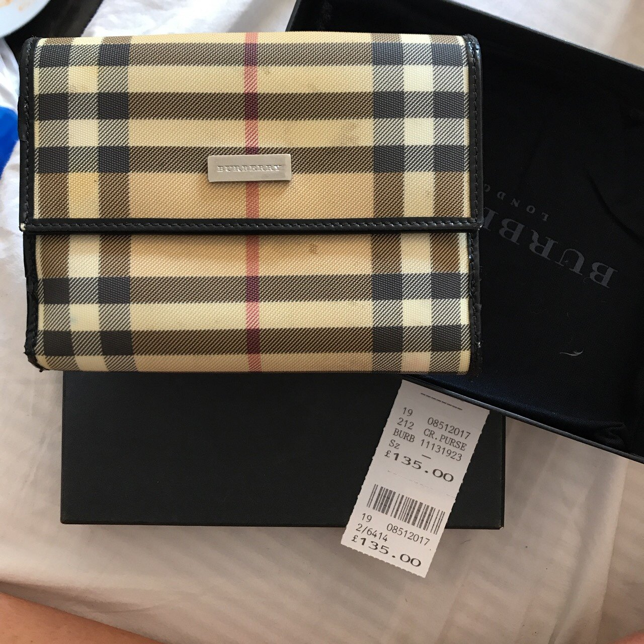 1898568c321e FINAL REDUCTION authentic burberry purse with receipts. on a - Depop