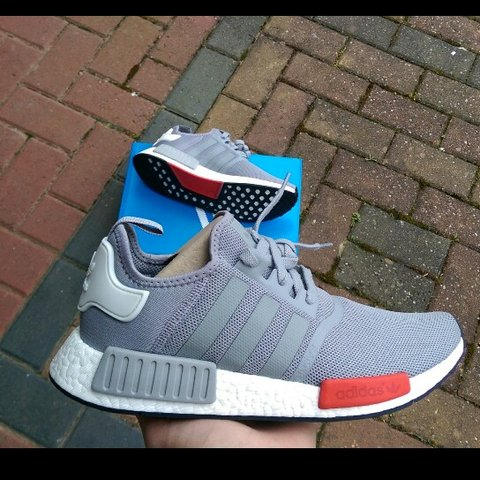 d8e27d11 @uzzy94. 3 years ago. Manchester, United Kingdom. ADIDAS NMD RUNNER ONYX  GREY/RED UK 10 and UK 6. BRAND NEW DEADSTOCK