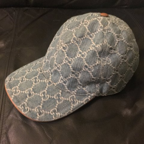 d56bb154120 Gucci Denim Monogram Cap.Size Medium adjustable. In offers - Depop