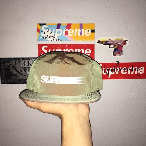 9b11cdf4a19 DS Supreme Motion Logo Iridescent 5 Panel Hat. SnapBack. PM - Depop