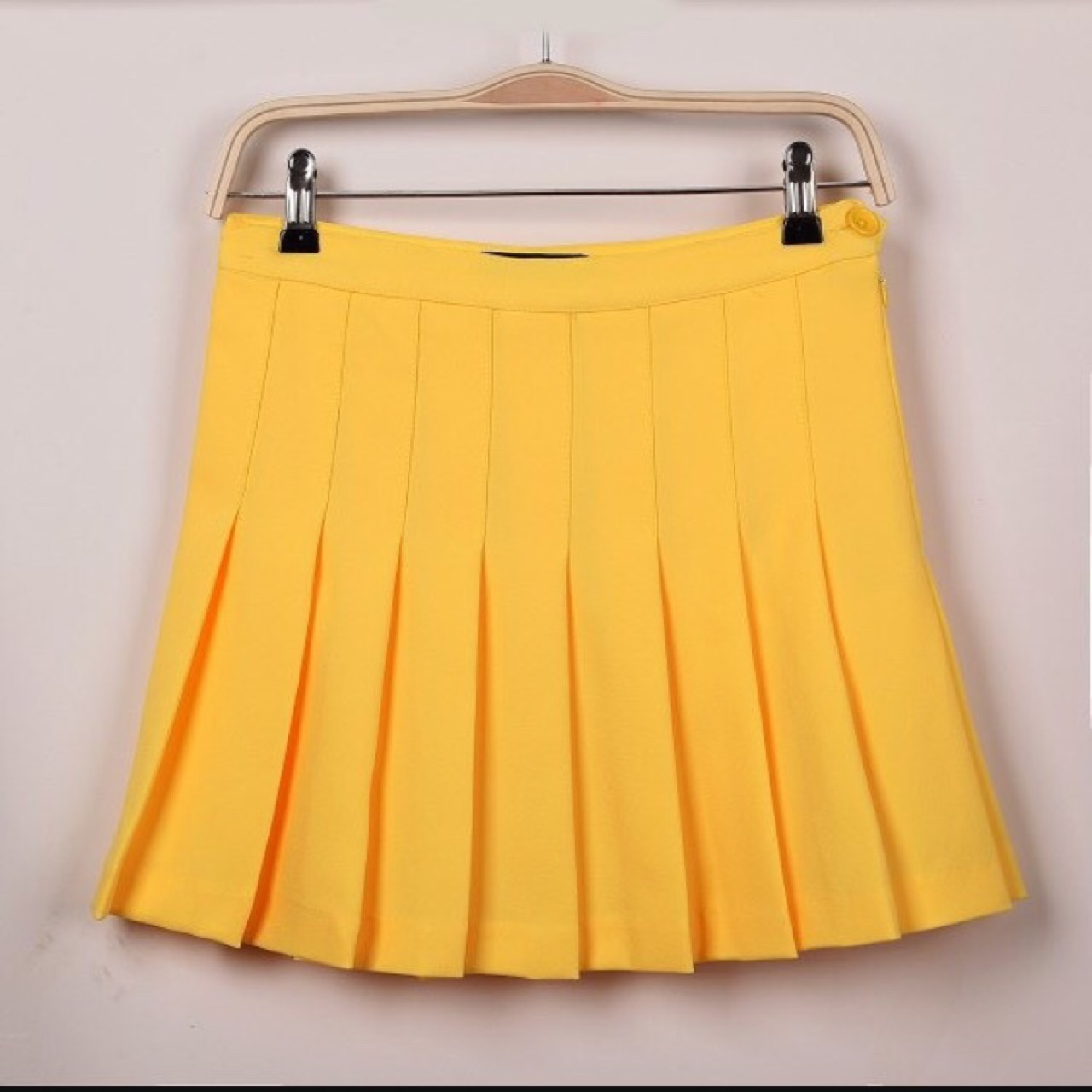 ae04e275ae97 American apparel yellow tennis skirt, perfect condition size - Depop