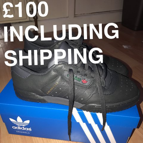 36c4dcac343 BRAND NEW YEEZY POWERPHASE CALABASAS CORE BLACK. SIZE 5. ON - Depop