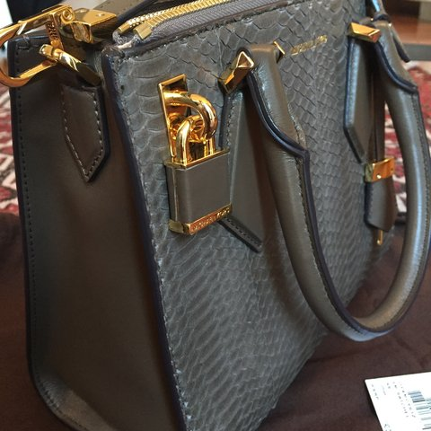 2bcd59835186 @l0r3na. 3 years ago. Rome, Italy. MICHAEL KORS COLLECTION SMALL CASEY  genuine Python Satchel ...