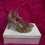 c89addbca01 Missguided clear strap wedge sandals Perspex wedges size 3 - Depop