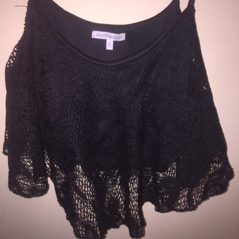 b5061bf44ac @perezabril. 3 years ago. United States. Charlotte Russe Crop Top w/  Crochet Lace.