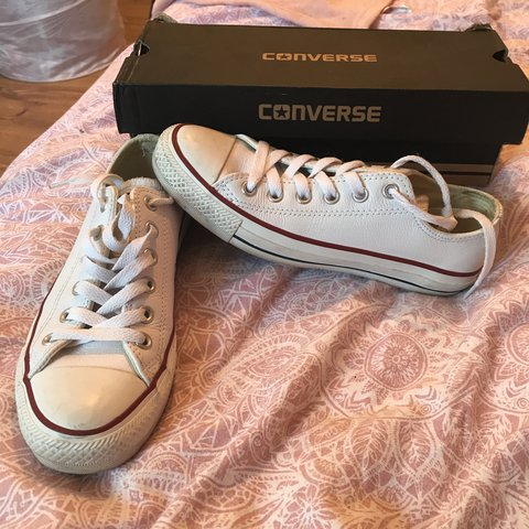 Real leather white converse 3015ca88d