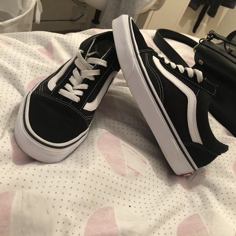 f20d681563 Womens Authentic black and white vans