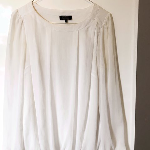 ecdb6da22d White floaty blouse size 8 from Papaya collection. Perfect a - Depop