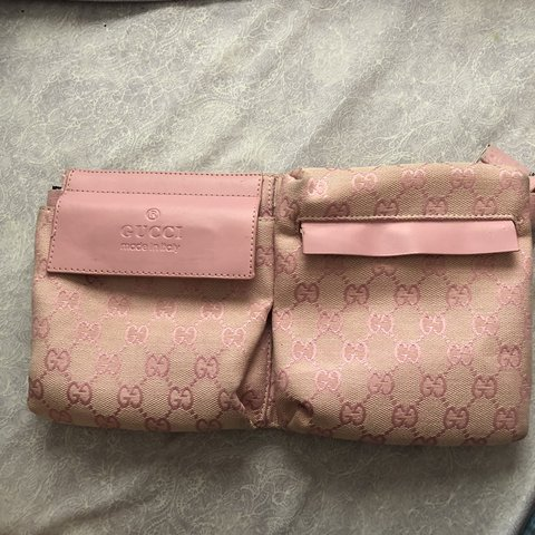 7270fc12e56d @jgm19. 8 months ago. Boca Raton, United States. Bootleg Gucci pink fanny  pack.