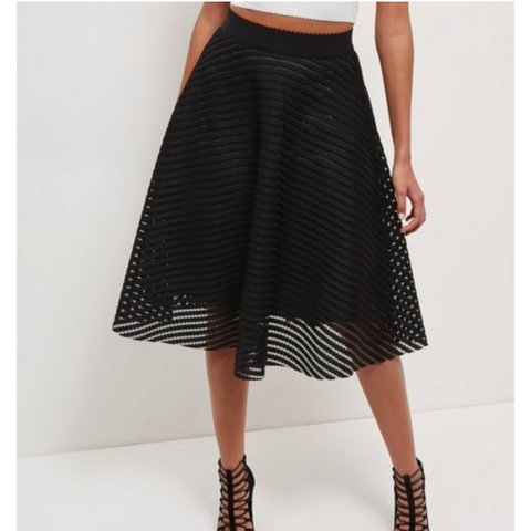 d040491a1 @ameliajosephine. 2 years ago. Chesterfield, UK. New Look black mesh midi  skirt. ...