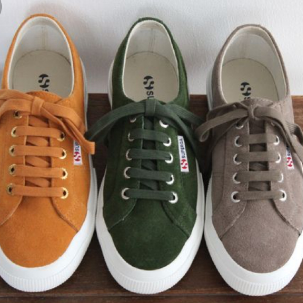 Suede Superga in SAND colour. As you