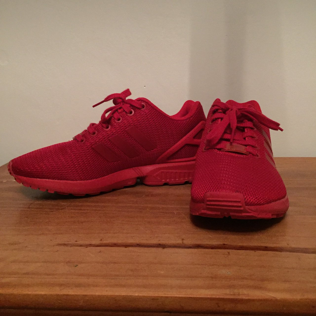 7b49ee666d419 ... shop unisex nearly new red adidas zx flux mens size 7 worn so depop  b6918 c644a