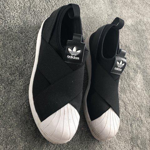 Adidas cross over strap trainers size 5, few little...