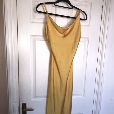 3fec6f7d @chantellegrey1. last month. London, United Kingdom. Topshop classic  mustard yellow plain satin slip dress ...