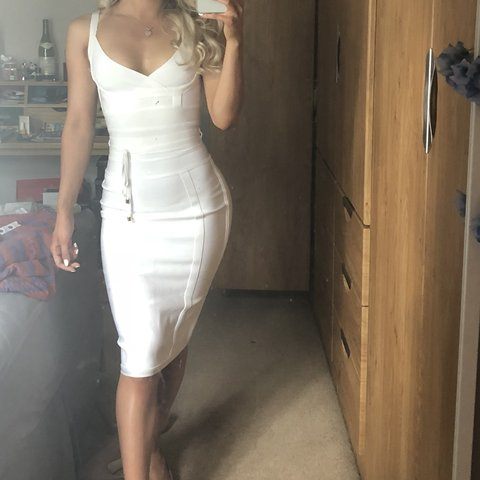 8a0b86474679 RRP £129 House of CB white belice bandage dress - bought off - Depop