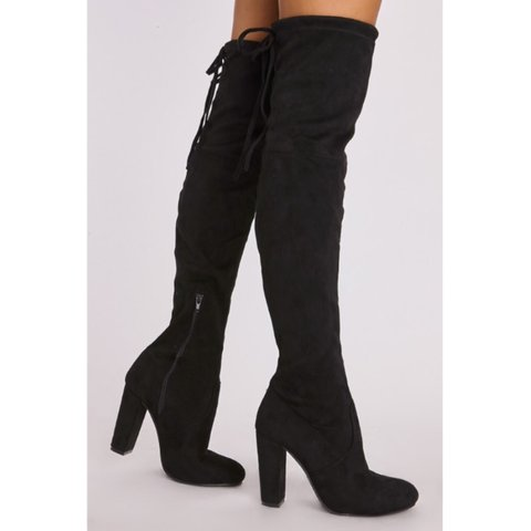 925b62e6a4 @caseysparks_x. 2 years ago. London, UK. Beautiful Black Thigh High Boots  With Heel ...