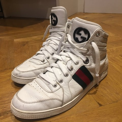 f503f161ffc 100% Authentic Gucci High Tops. Condition 8 10 with a few - Depop