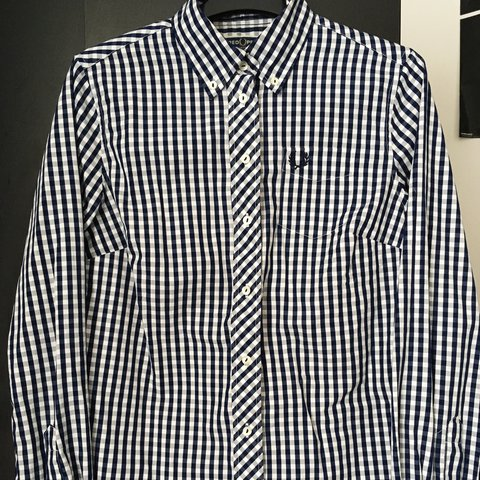 d673ef64 @catmitch. 2 years ago. Salford, United Kingdom. Fred Perry Reissued size  10 women's gingham button down shirt ...