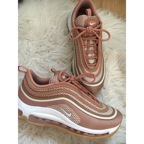 ce298e80ecb2 Thinking of selling my rose gold pink nike air max 97 ultra - Depop