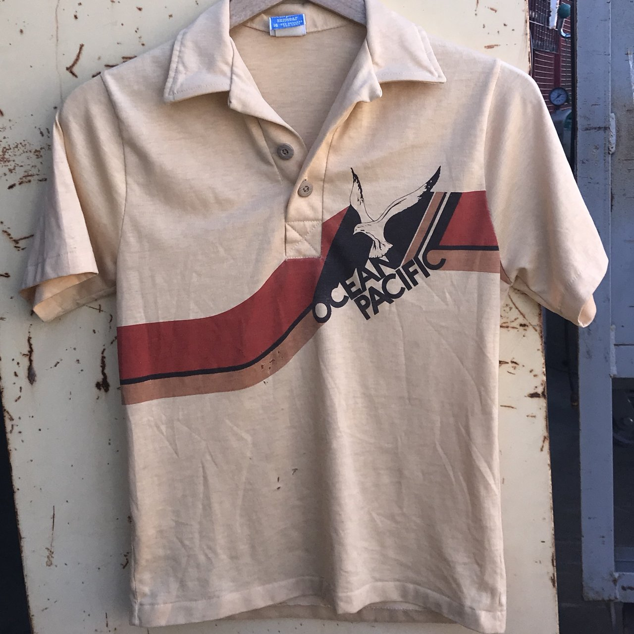 Vintage Op Ocean Pacific Polo Shirt Tagged Size 16 Id Say Depop
