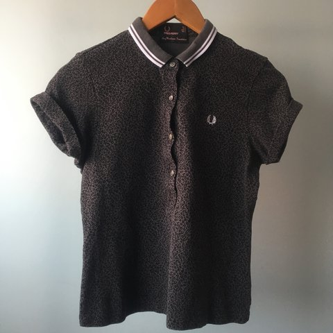 71a7f5ebacc4 @thelectureseries. 3 years ago. Corringham, UK. AMY WINEHOUSE FRED PERRY  GREY LEOPARD PRINT POLO ...