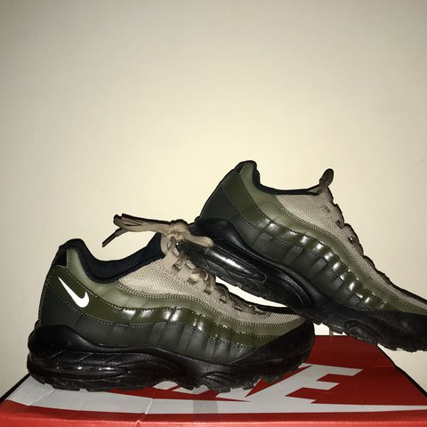 Khaki olive green Nike air max 95 sneakerboot in Depop