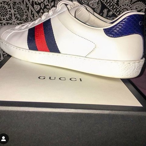 af185ce5b79 Men s authentic Gucci trainers worn once in brilliant bit of - Depop