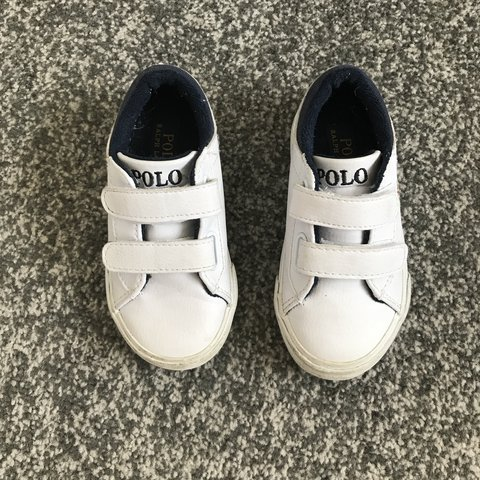 52af67b05 Boys Ralph Lauren infant trainers. These boys shoes are so 6 - Depop