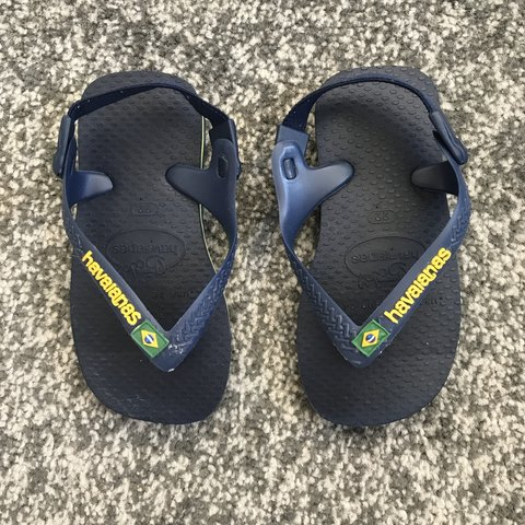 ab9277a56a5a Boy Havaianas Infant size 22 in navy. Infant flip flops to - Depop
