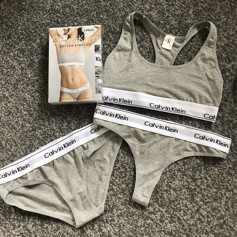58b0531ce6dce Calvin Klein sets available in black   grey and white. These - Depop
