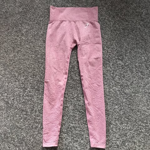 f26bb0c19a6fa Gymshark Vital Seamless Leggings In Dusky Pink Marl Size No Depop