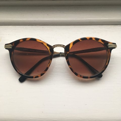 9d6f58d2945 Funky leapard print sunglasses with a browny red lenses. on - Depop