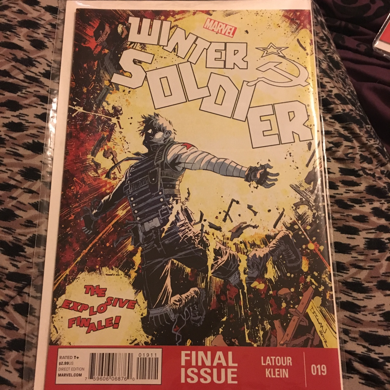 The winter soldier comic book, final issue 19, never    - Depop