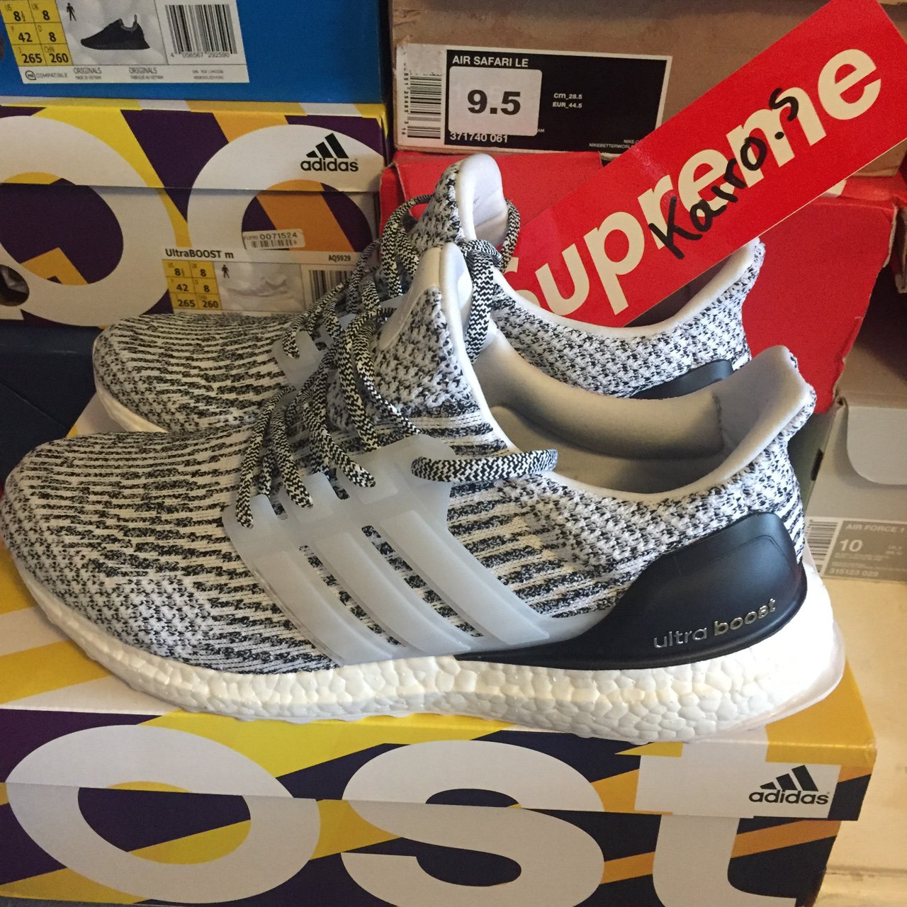 f46febe9f79 Adidas Ultra Boost Oreo Size Uk8.5 DS 10 10 condition (tried - Depop