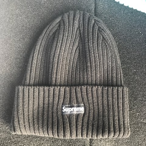 8eefe1cebc2 Supreme Overdyded Ribbed Beanie Black SS17 - Depop