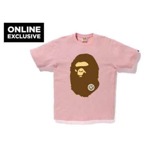 2423105af @ryanhelderle. 2 years ago. Lake Forest, United States. Online Exclusive A Bathing  Ape Bape Ape Head Tee Mens Xxl Pink American Xl
